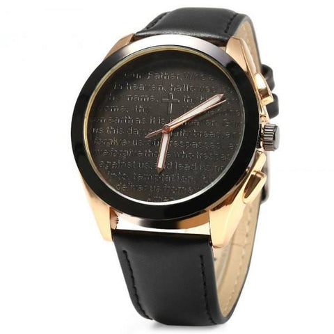 Cross Decoration Quartz Watch - TakeClothe