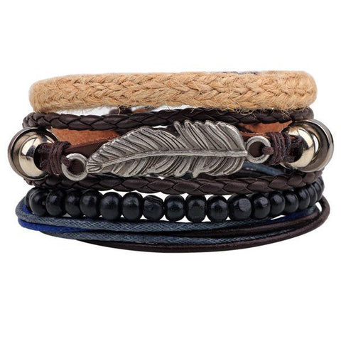 Bracelet Pack With Feather - TakeClothe - 1