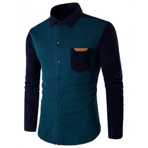 Color Block Spliced Shirt (3 Colors) - TakeClothe - 1