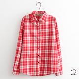 Boyfriend Shirt in Check (10 Colors) - TakeClothe - 3