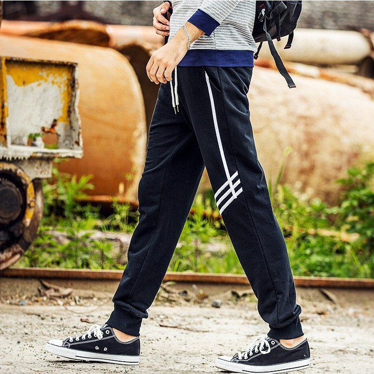 Skinny Joggers with Stripes - TakeClothe - 1