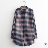 Boyfriend Shirt in Check (10 Colors) - TakeClothe - 4