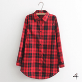 Boyfriend Shirt in Check (10 Colors) - TakeClothe - 5
