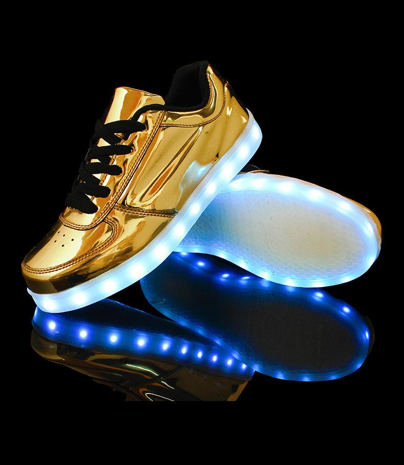 LED Luminous Shiny Sneakers (2 Colors) - TakeClothe - 1