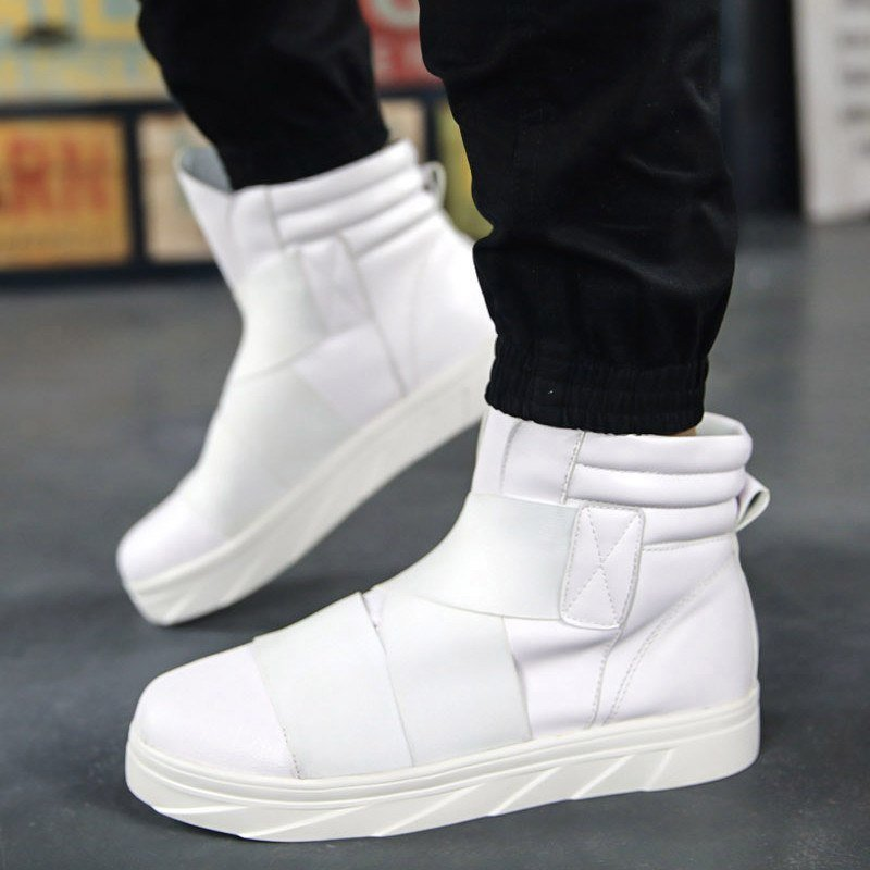 Hi-Top Trainers With Padded Cuff (3 Colors) - TakeClothe - 1