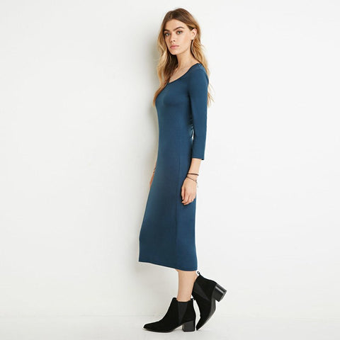 Ribbed Maxi Dress (5 Colors) - TakeClothe - 1