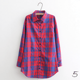 Boyfriend Shirt in Check (10 Colors) - TakeClothe - 6