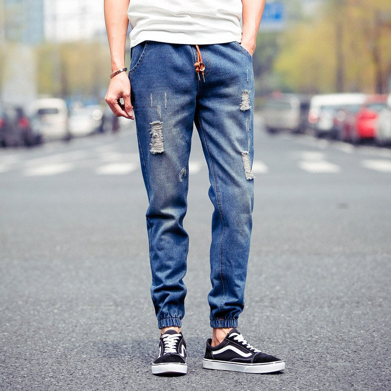 Jog Jeans with Rips - TakeClothe - 1