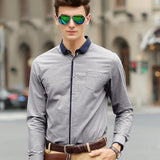 Smart Shirt With Contrast Placket (2 Colors) - TakeClothe - 2