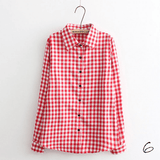 Boyfriend Shirt in Check (10 Colors) - TakeClothe - 7