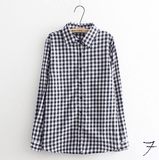 Boyfriend Shirt in Check (10 Colors) - TakeClothe - 8