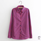 Boyfriend Shirt in Check (10 Colors) - TakeClothe - 9