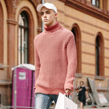 Roll Neck Knit With Cable Detail - TakeClothe - 2