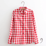 Boyfriend Shirt in Check (10 Colors) - TakeClothe - 10