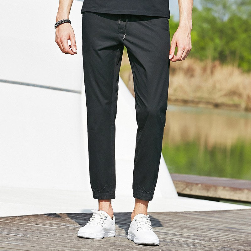 Pants In Slim Fit Black - TakeClothe - 1
