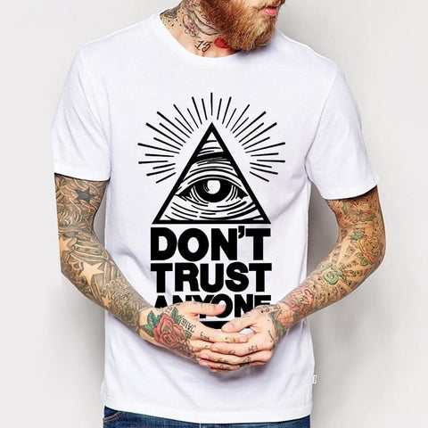 "T-Shirt With ""Do not Trust"" Print (2 Colors) - TakeClothe - 1"