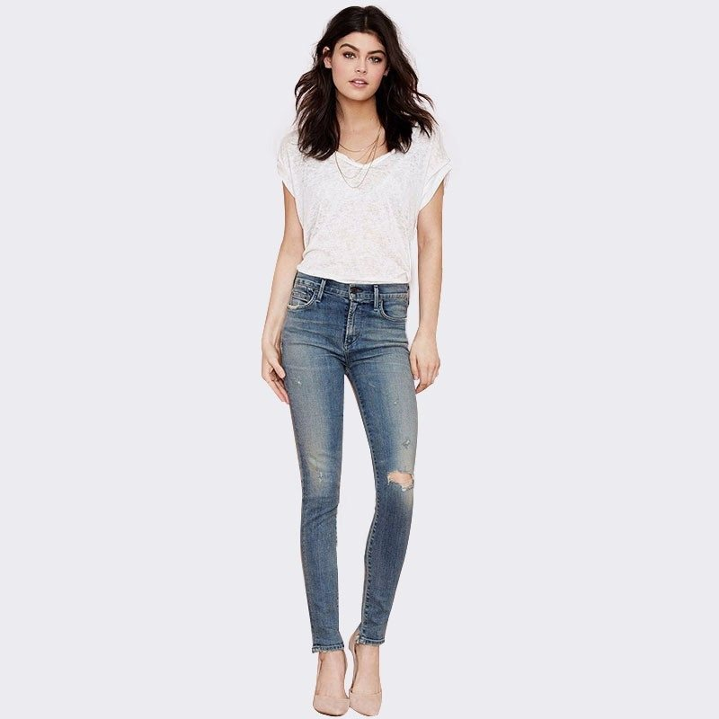 Skinny Jeans With Rips - TakeClothe - 1