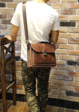 Leather Satchel In Tan - TakeClothe - 6