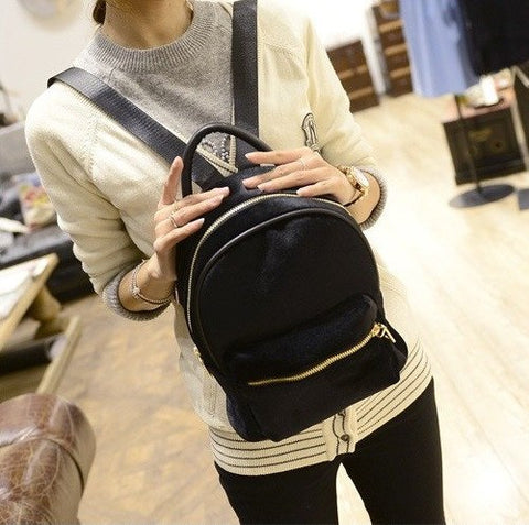Exclusive Velvet Backpack (4 Colors) - TakeClothe - 1
