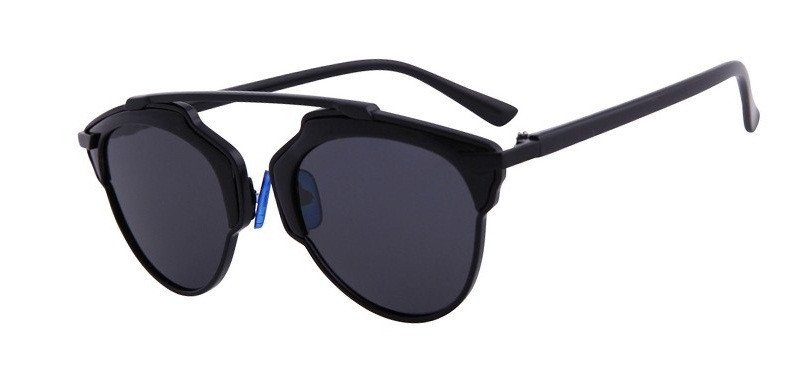 Round Sunglasses With Highbar In Full Mix Metal (8 Colors) - TakeClothe - 1