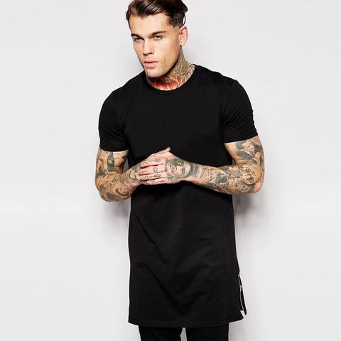 Longline T-Shirt With Crew Neck - TakeClothe - 1