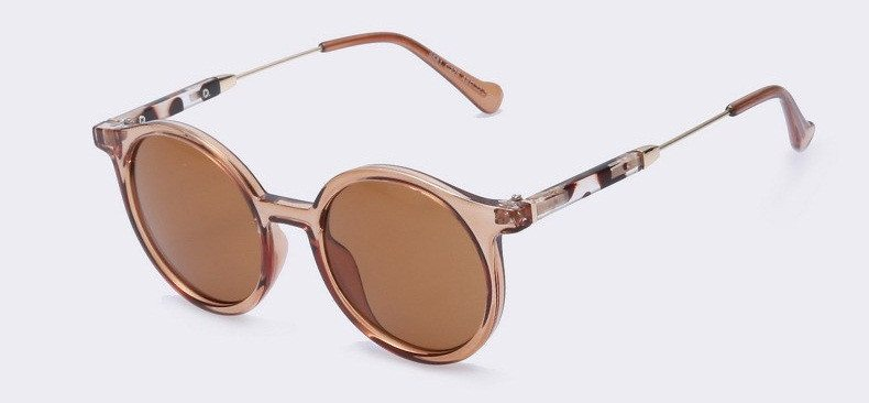 Round Sunglasses With Metal Arms (6 Colors) - TakeClothe - 1