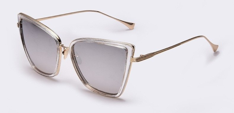 Sunglasses in Mono With Metal Corner detail (6 Colors) - TakeClothe - 1