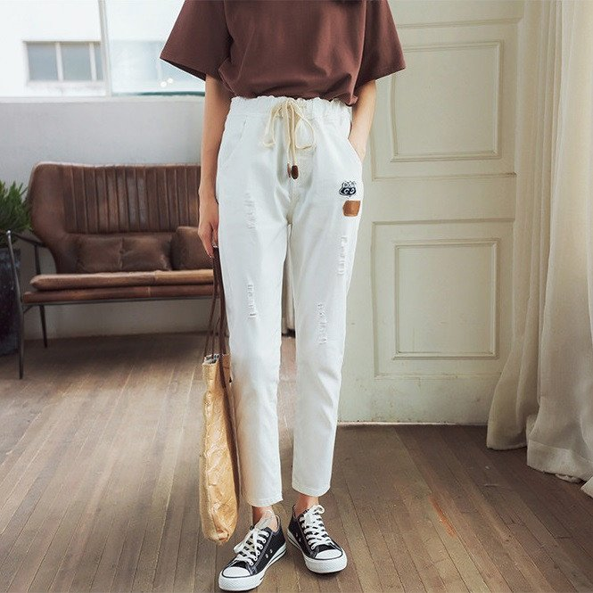 Chino Pants With Tassel Tie Up - TakeClothe - 1