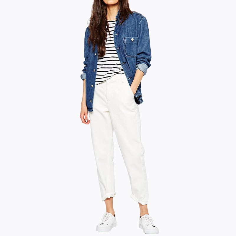 Chino Pants in Arctic White - TakeClothe - 1