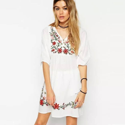 Dress with Embroidery - TakeClothe - 1