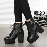 Chunky Ankle Boots - TakeClothe - 1