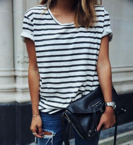 Striped T-Shirt - TakeClothe