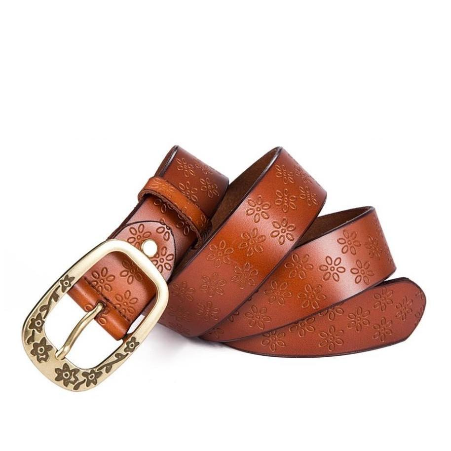 Embossed Ring Buckle Belt (4 Colors) - TakeClothe - 1