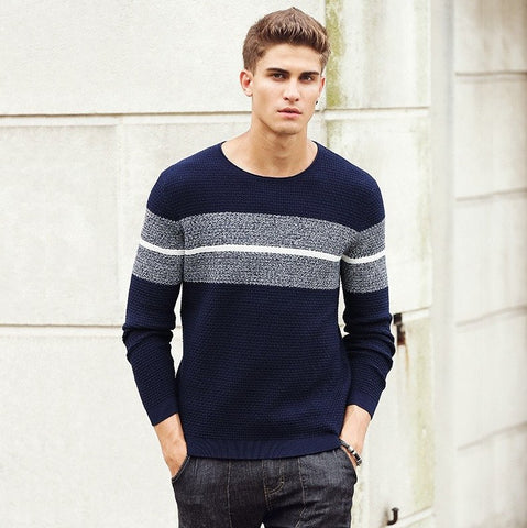 Sweater With Horizontal Cut And Sew - TakeClothe - 1