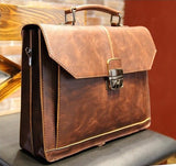 Leather Satchel In Tan - TakeClothe - 1