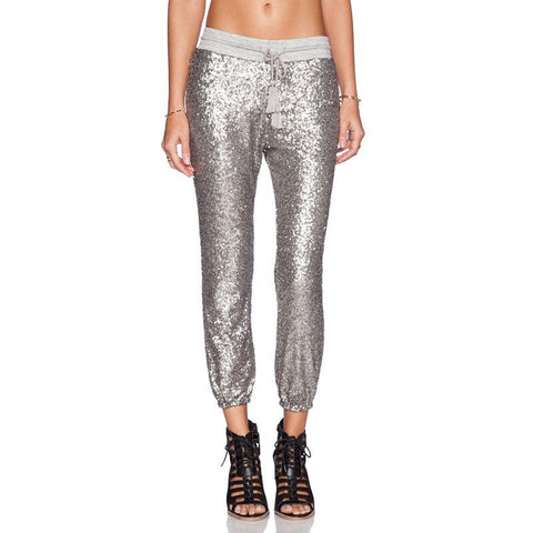 All Over Sequin Jogger - TakeClothe - 1