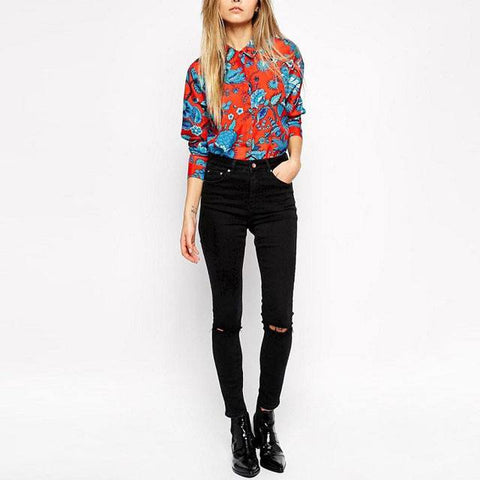 Floral Print Shirt - TakeClothe - 1