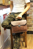 Leather Satchel In Tan - TakeClothe - 5