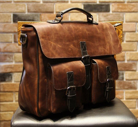 Vintage Leather Briefcase - TakeClothe - 1