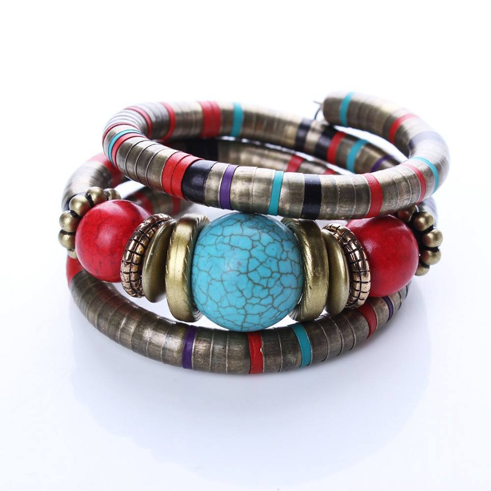 Decorated Stone Cuff Bracelet - TakeClothe