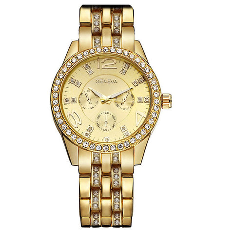 Big Dial Gold Bracelet Watch - TakeClothe