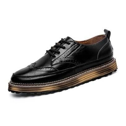 Brogues With Stacked Rubber Sole (2 Colors) - TakeClothe - 1