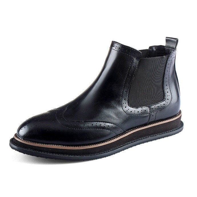 Brogue Chelsea Boots (2 Colors) - TakeClothe - 1