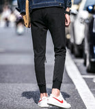 Skinny Joggers With Zips on Knees - TakeClothe - 3
