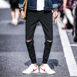 Skinny Joggers With Zips on Knees - TakeClothe - 1