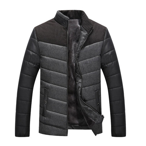 Quilted Jacket with Contrast Insert (2 Colors) - TakeClothe - 1