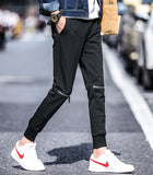 Skinny Joggers With Zips on Knees - TakeClothe - 2