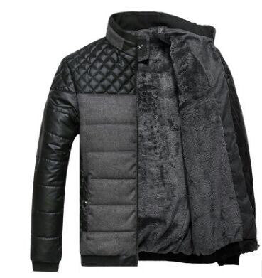 Casual Quilted Jacket with Contrast Insert (2 Colors)