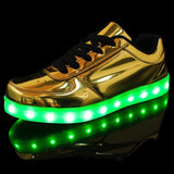 LED Luminous Shiny Sneakers (2 Colors) - TakeClothe - 3