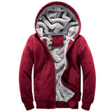 Fleece Lined Zip-Front Hoodie (4 Colors) - TakeClothe - 4
